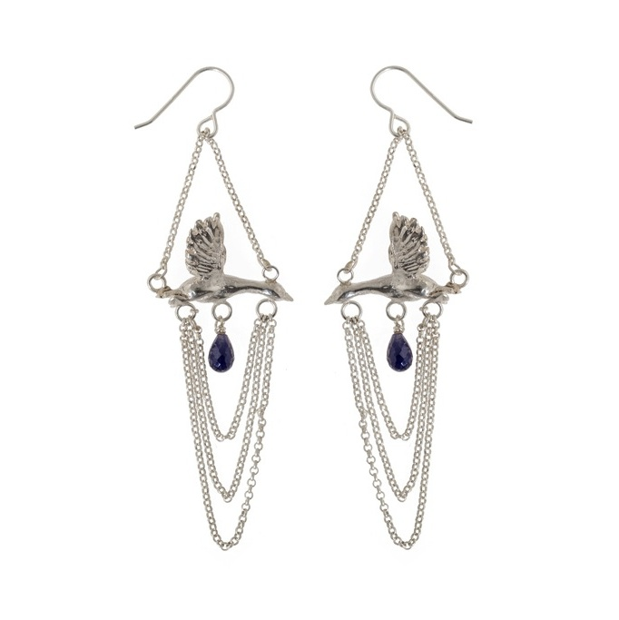 Snow Goose Chandelier Earrings