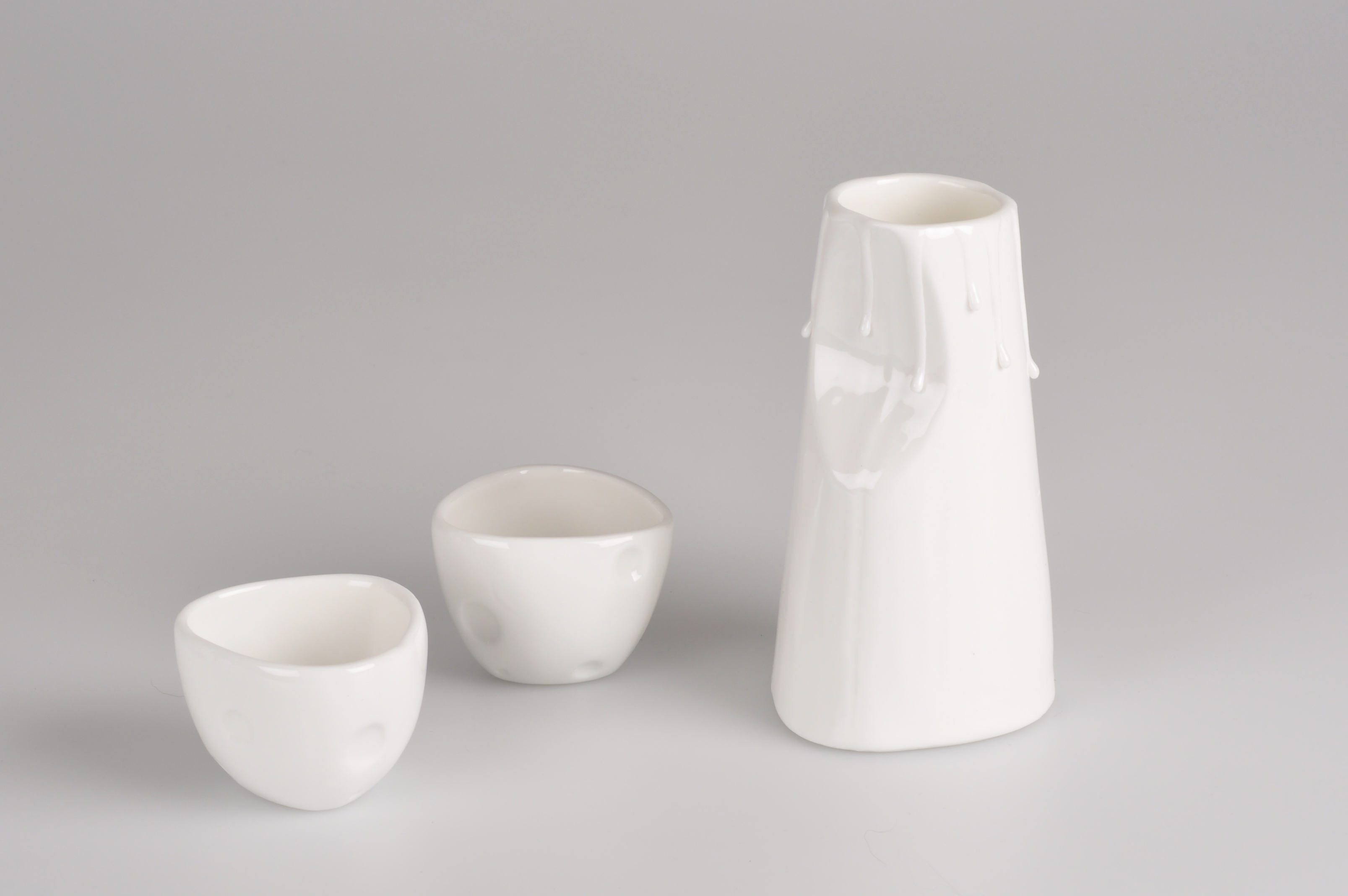 Cheese Sake Bottle and Cup