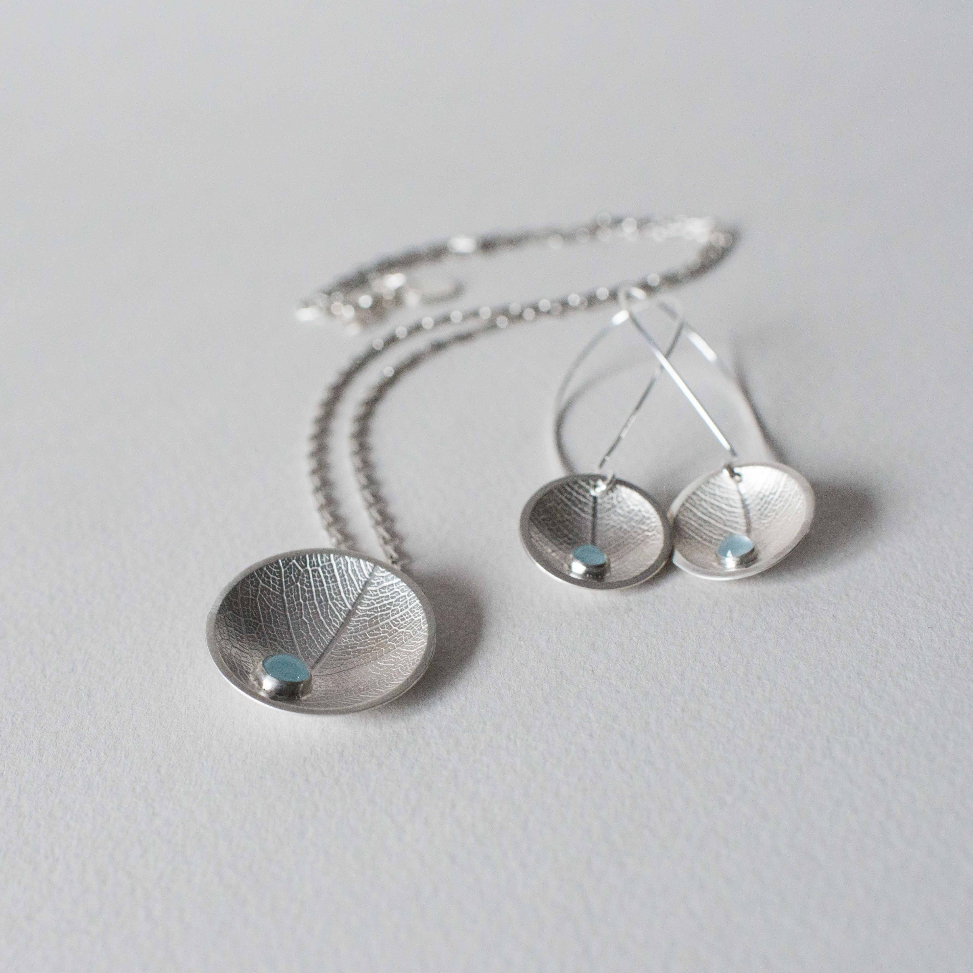Dewdrop necklace and earrings
