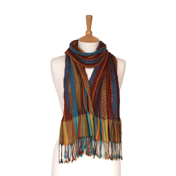 Handwoven Pleated Scarf