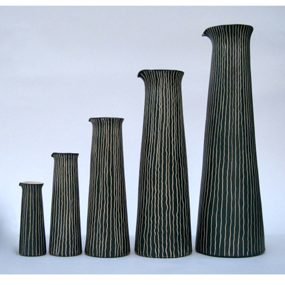 Tall Sgraffito Jugs/Vases