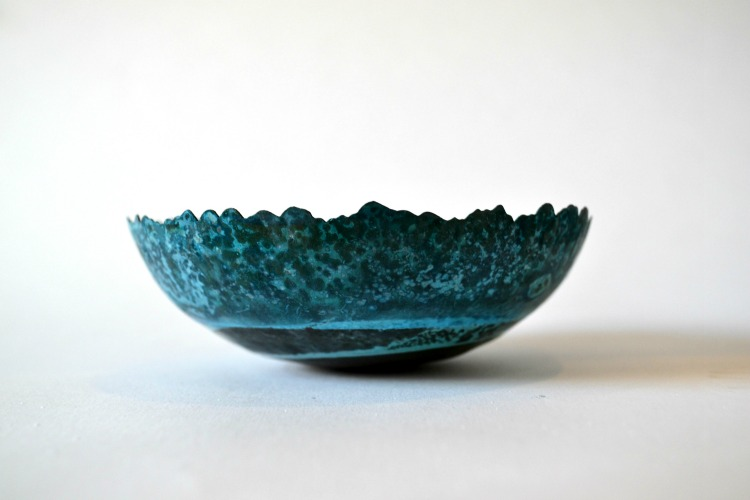 Patinated vessel