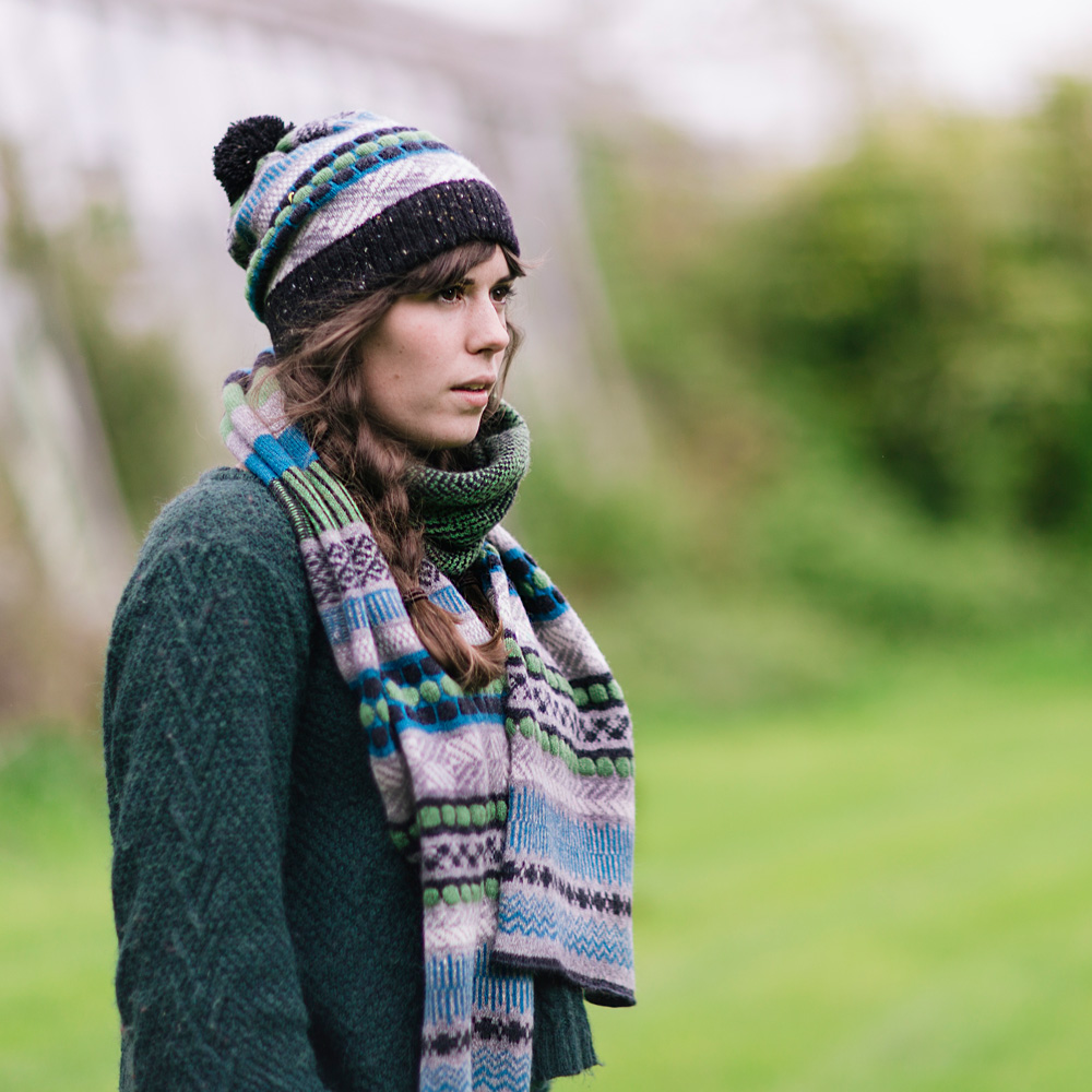 Shoreline Knitted Hat and Scarf- Barafundle
