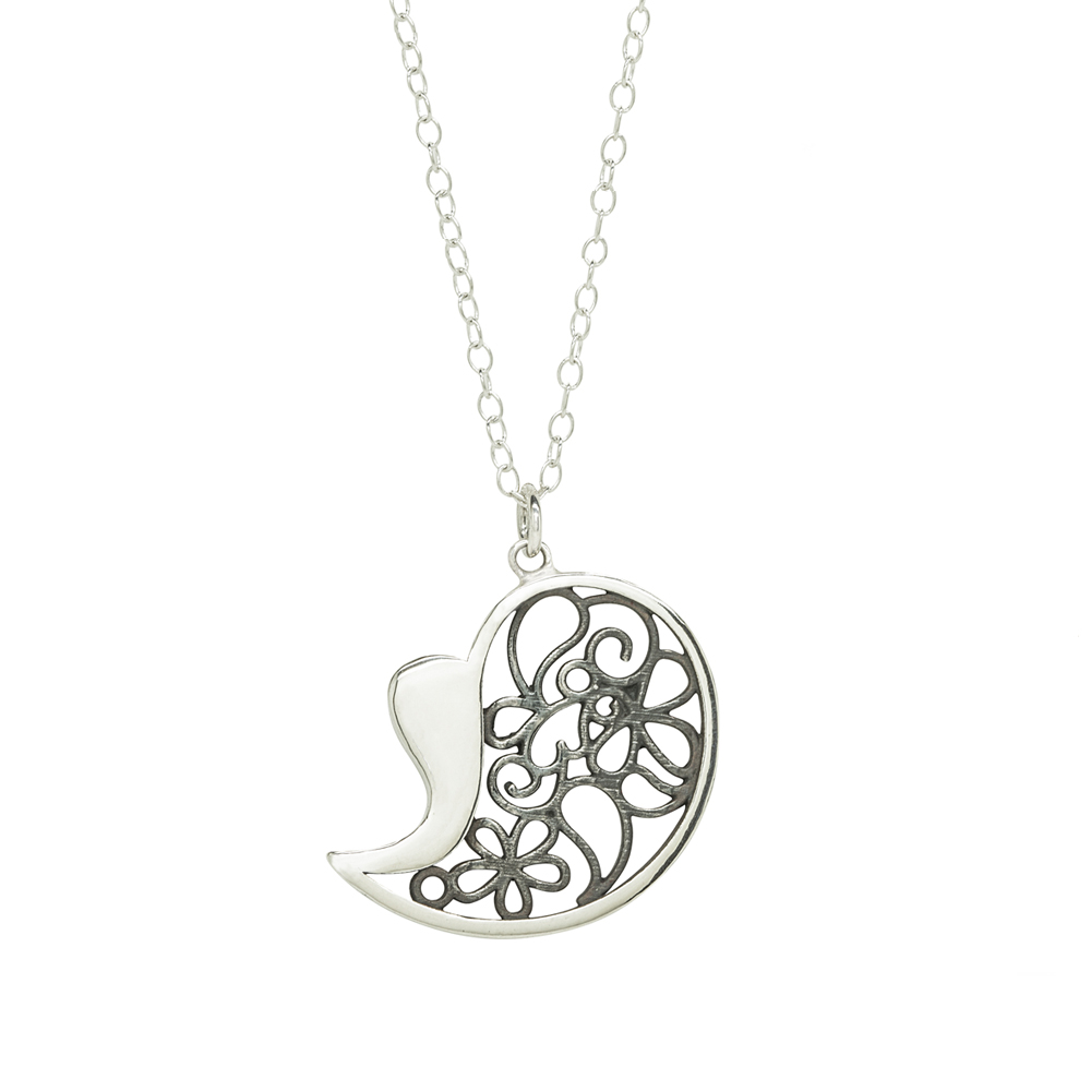 Heart and Paisly Pendant