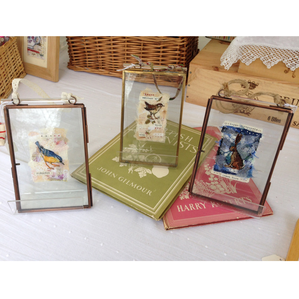 Framed embroideries