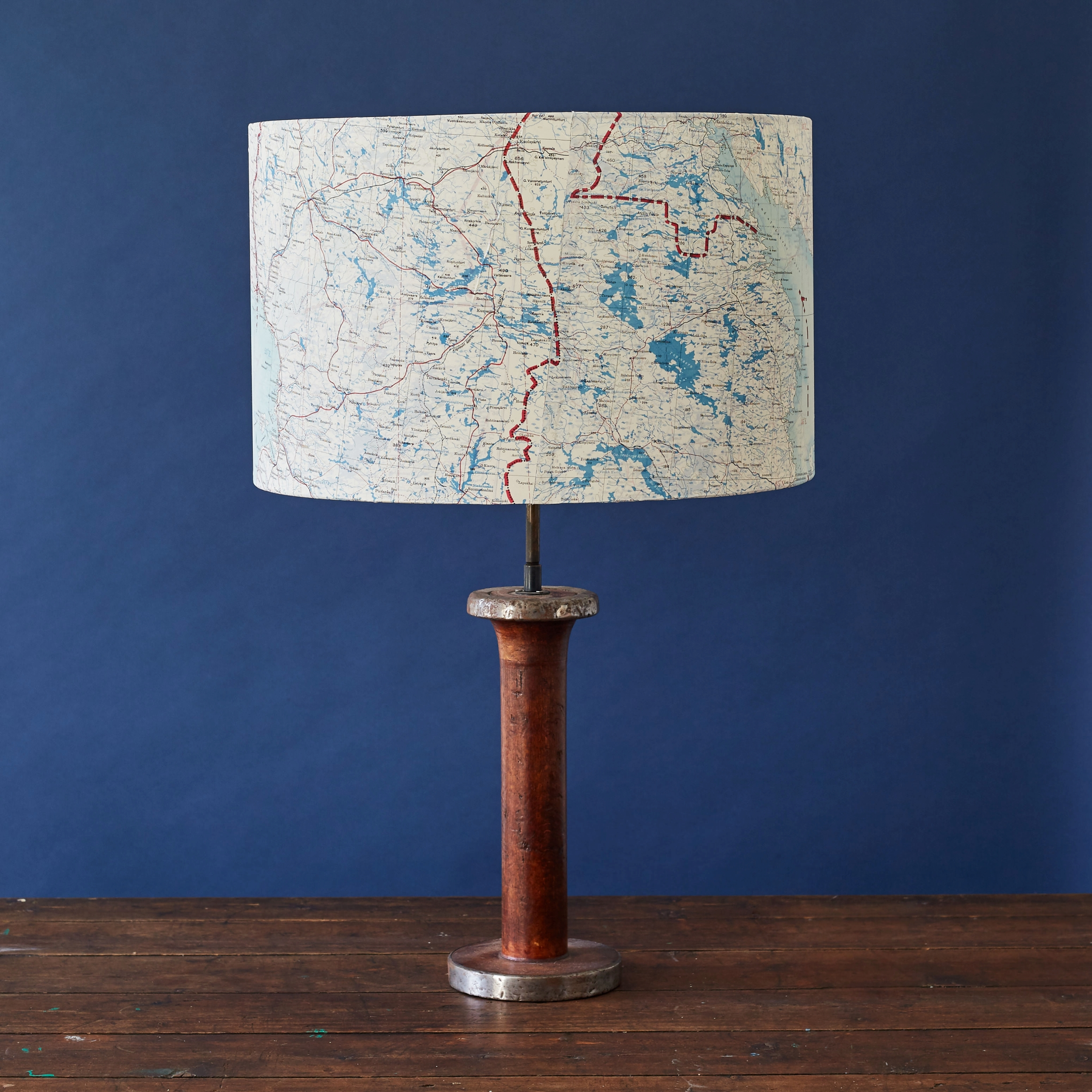 Escape and evade map lampshade