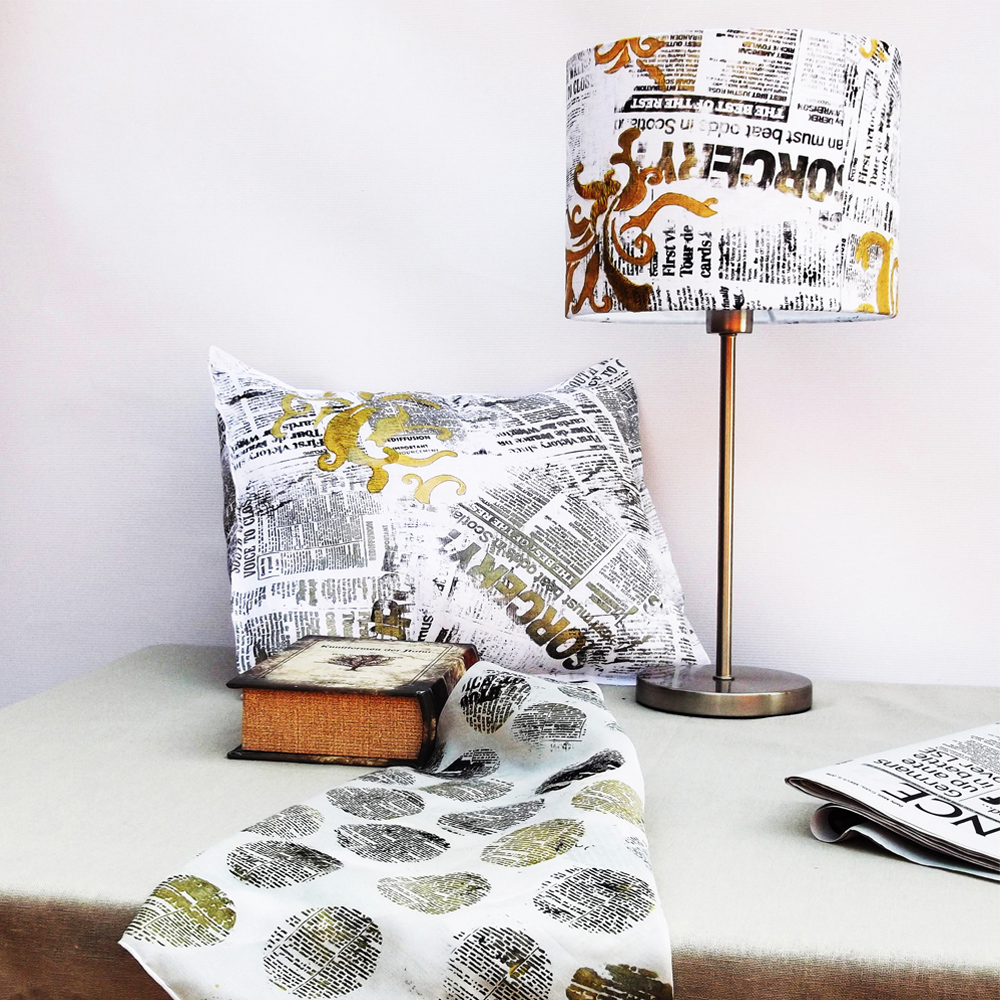 Collection of newspaper homeware pieces