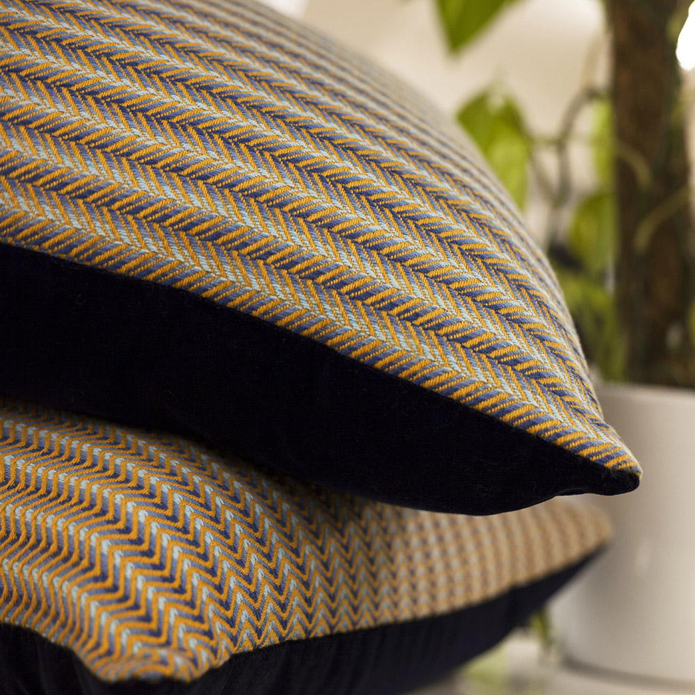 Opulent Wave and Reflective Twill cushions