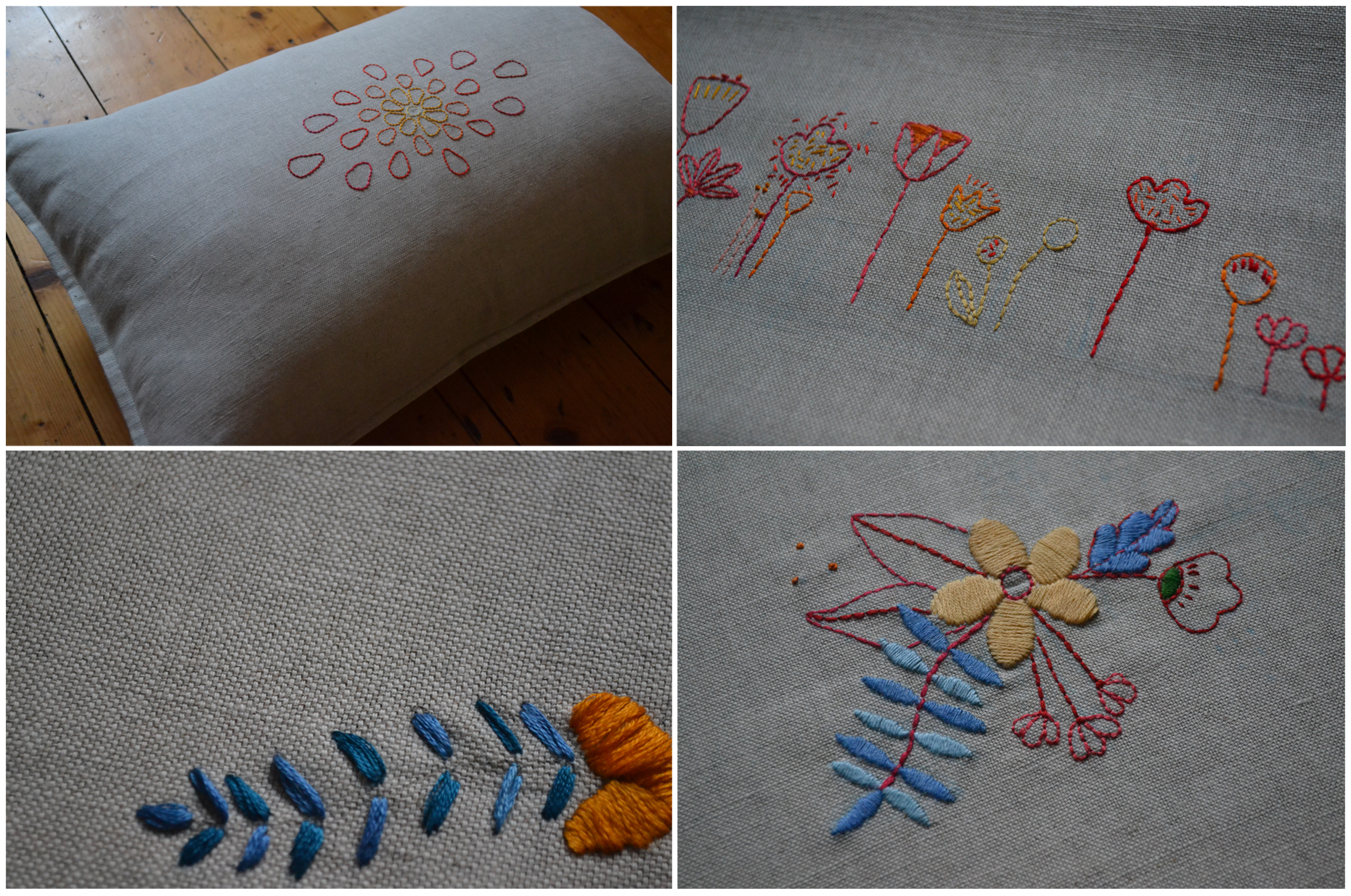 3.Hand Embroidered Cushions