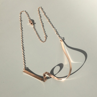 Ribbon Loop V Necklace