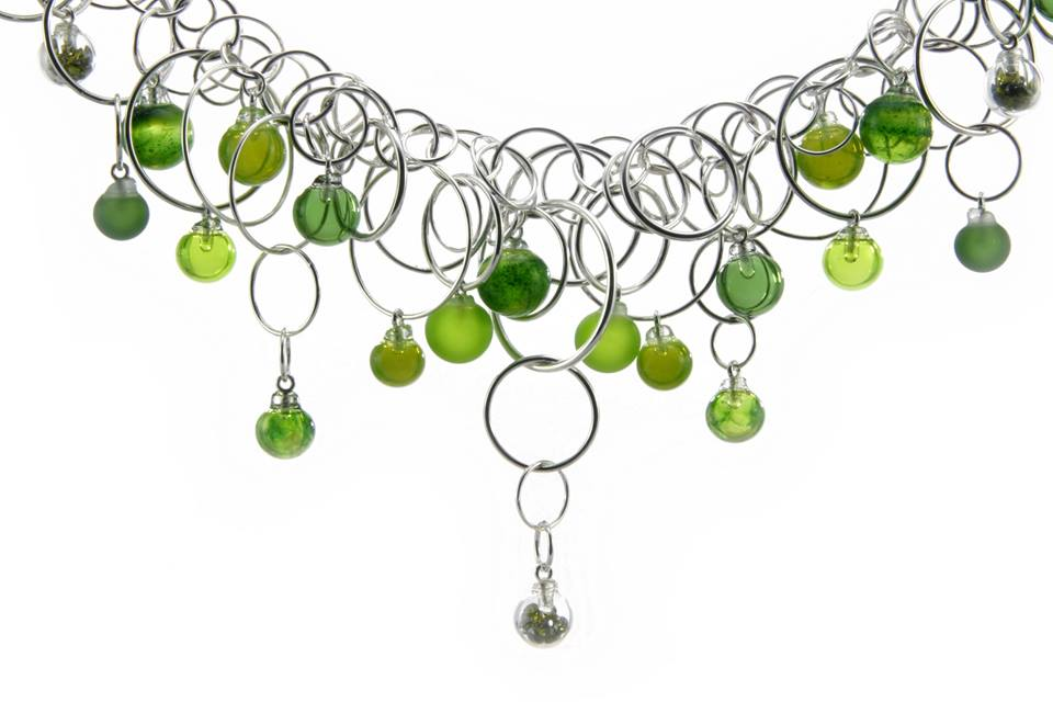 Aventurine Green Bubble Multilink Neckpiece