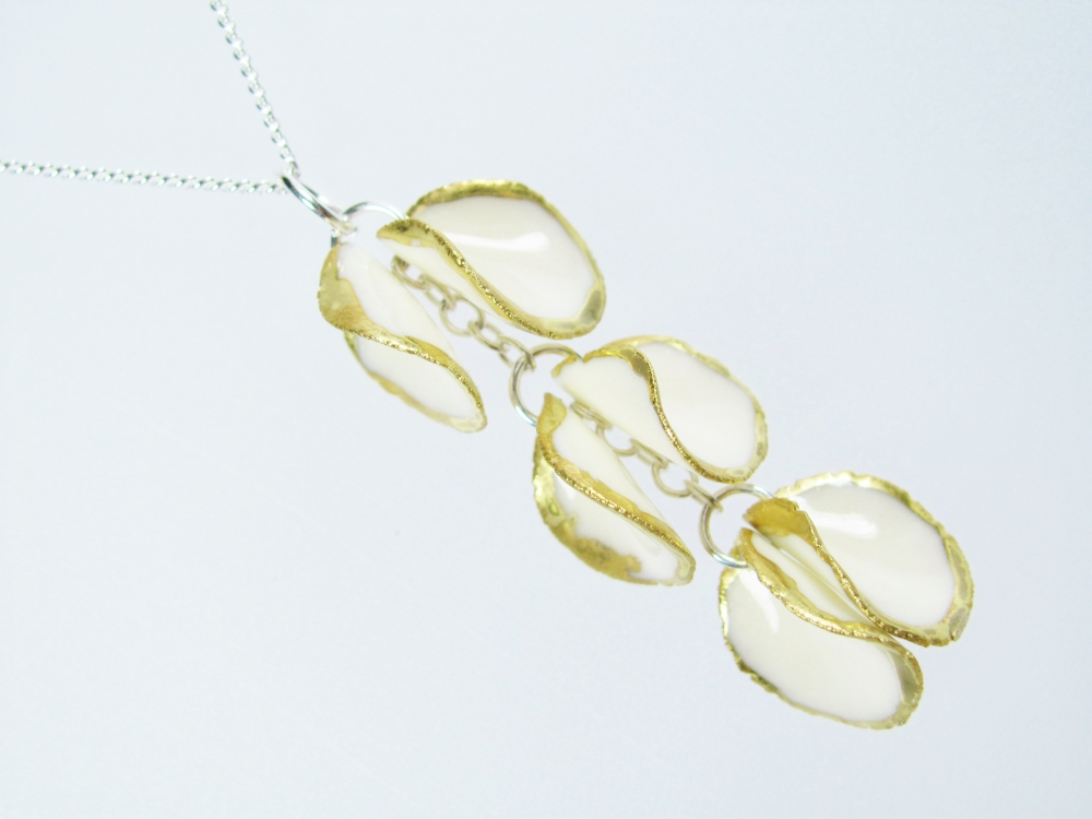Tracey Birchwood: Porcelain petal jewellery